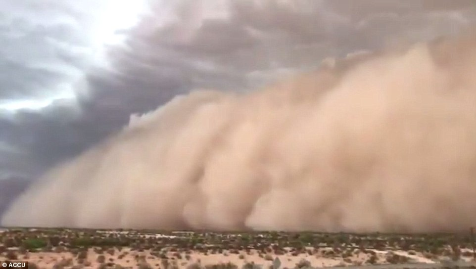 Wind gusts of up to 70 miles per hour toppled power lines in Phoenix as severe dust storms tore across parts of the Desert Southwest