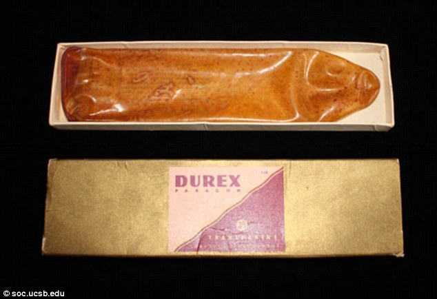 Early condoms like this Durex actually came with instructions to wash them. They also had a seam the side and were made of actual rubber. We know better now