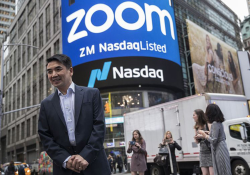 CEO Zoom - Eric Yuan. Ảnh: Bloomberg