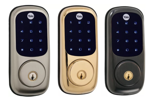 Yale Real Living Touchscreen Z-Wave Deadbolt.